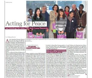 Acting for Peace in the media