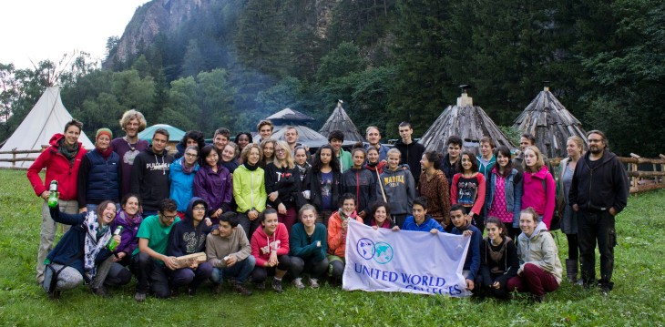 Group photo in front of the teepee village - Native Spirit Survival Training (photo by Inasa Bibic)