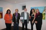 Jessie, Nicole and Paul Müller and Gebi Schatz with Franz Fischler